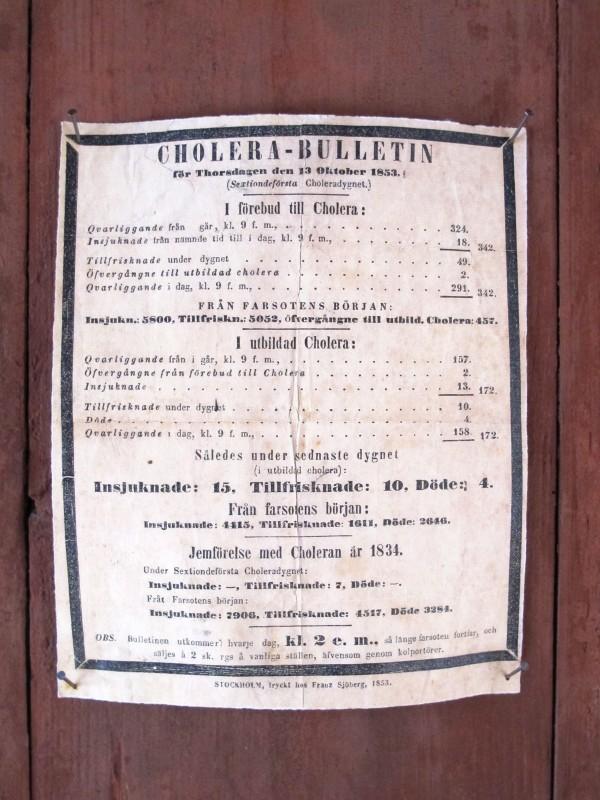 Cholera notice